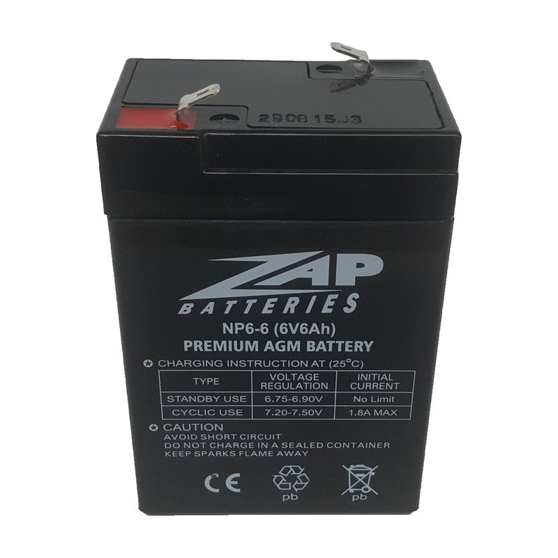 6v6Ah AGM Battery